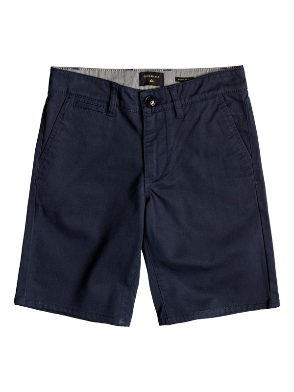 0 Boy's 8-16 New Everyday Union Chino Shorts Blue EQBWS03223 Quiksilver