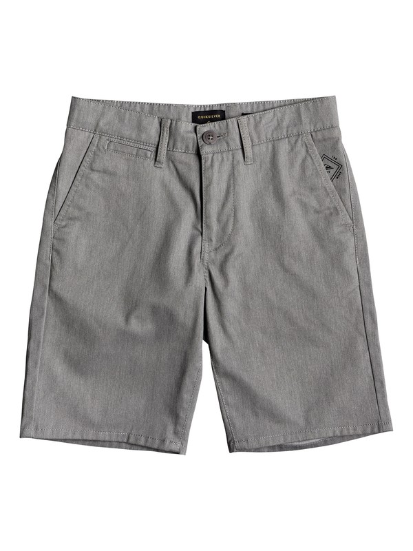 0 Boy's 8-16 New Everyday Union Chino Shorts Grey EQBWS03223 Quiksilver