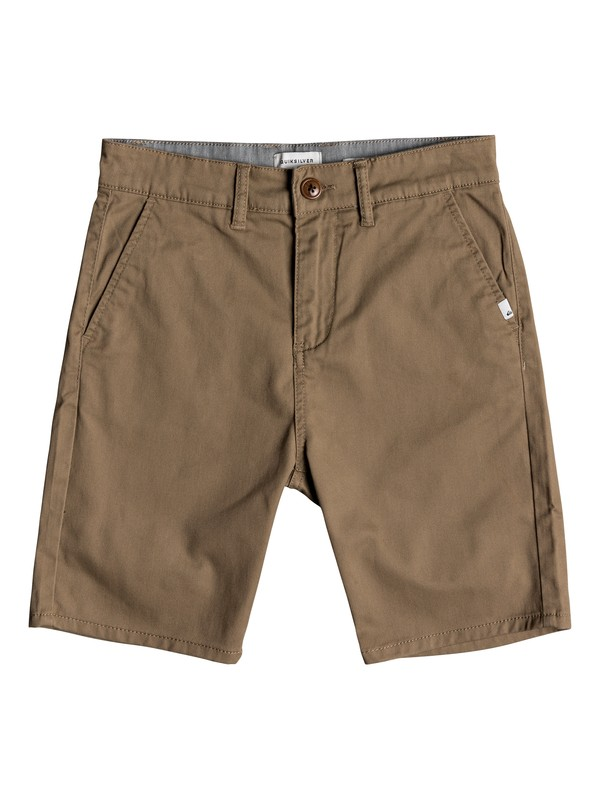 0 Boy's 8-16 New Everyday Union Chino Shorts Beige EQBWS03223 Quiksilver