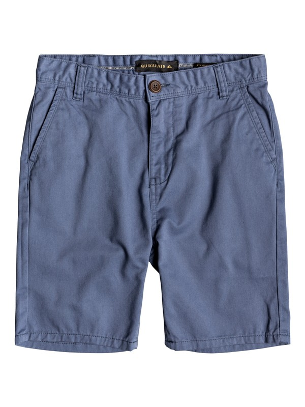0 Boy's 8-16 Everyday Chino Shorts Blue EQBWS03225 Quiksilver