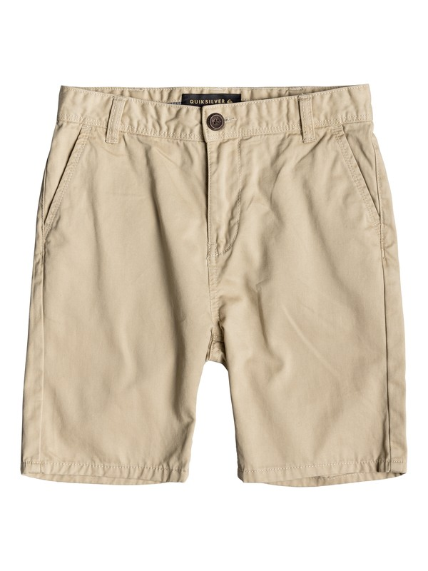 0 Boy's 8-16 Everyday Chino Shorts Beige EQBWS03225 Quiksilver