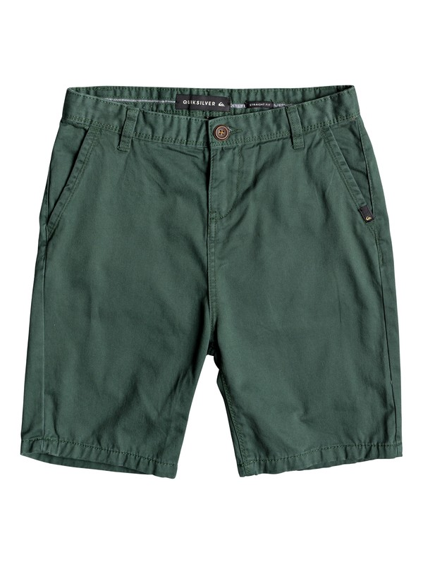 0 Everyday - Chino Shorts for Boys 8-16 Green EQBWS03225 Quiksilver