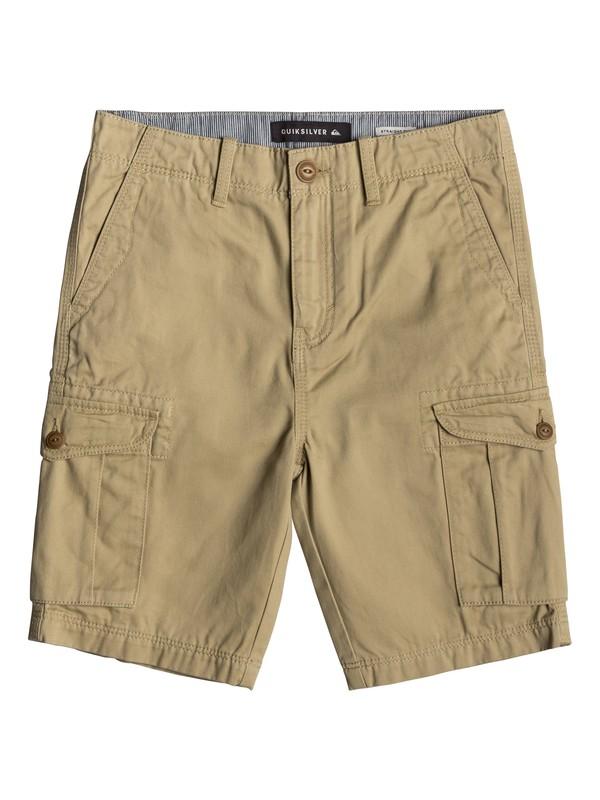 0 Crucial Battle - Cargo Shorts for Boys 8-16 Brown EQBWS03226 Quiksilver