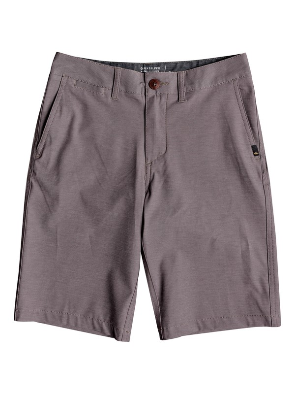 "0 Boy's 8-16 Union Heather 19"" Amphibian Boardshorts Grey EQBWS03232 Quiksilver"