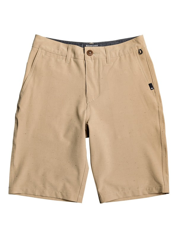 "0 Boy's 8-16 Union Nep 19"" Amphibian Boardshorts Brown EQBWS03260 Quiksilver"
