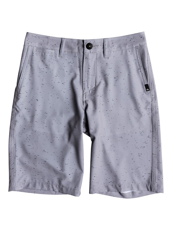 "0 Boy's 8-16 Union Nep 19"" Amphibian Boardshorts Grey EQBWS03260 Quiksilver"