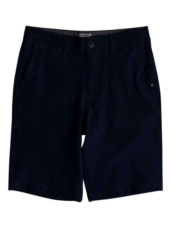 "0 Boy's 8-16 Union 19"" Amphibian Shorts Blue EQBWS03269 Quiksilver"