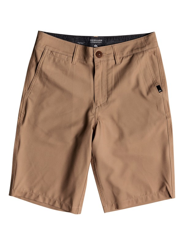 "0 Boy's 8-16 Union 19"" Amphibian Shorts Brown EQBWS03269 Quiksilver"
