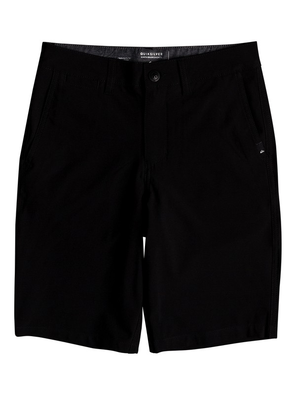 "0 Boy's 8-16 Union 19"" Amphibian Shorts Black EQBWS03269 Quiksilver"
