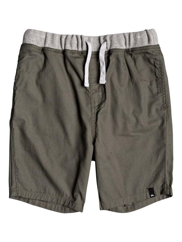 0 Seaside Coda - Short para Chicos 8-16 Marron EQBWS03272 Quiksilver