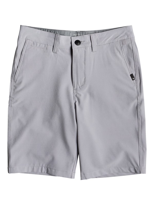 "0 Boy's 8-16 Union 19"" Amphibian Boardshorts Grey EQBWS03276 Quiksilver"