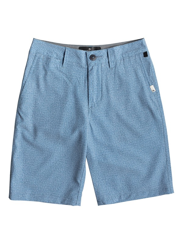 "0 Boy's 8-16 Union Heather 19"" Amphibian Boardshorts Blue EQBWS03279 Quiksilver"