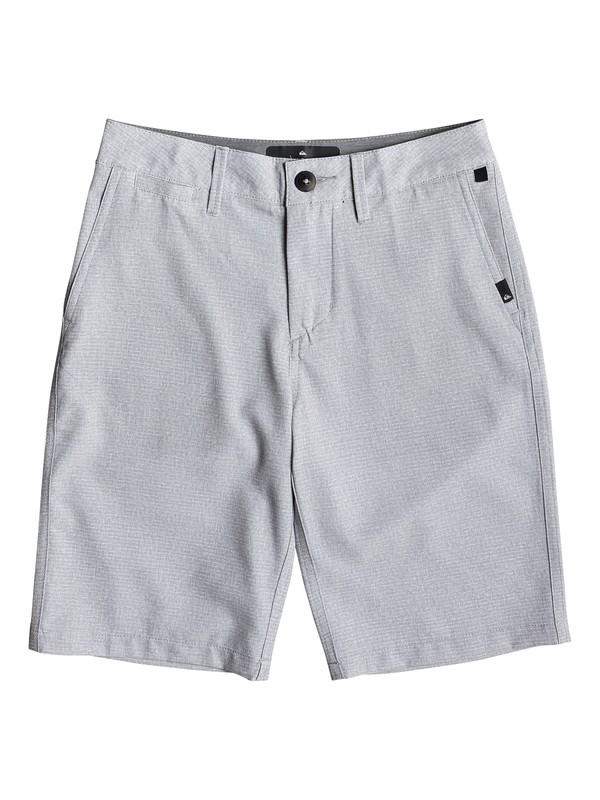 "0 Boy's 8-16 Union Heather 19"" Amphibian Boardshorts Grey EQBWS03279 Quiksilver"