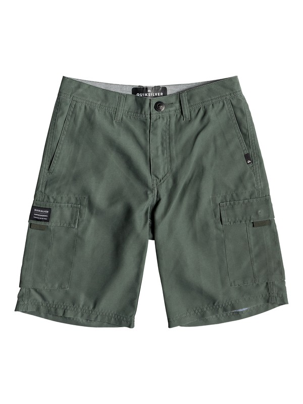 "0 Boy's 8-16 Rogue Surfwash 18"" Amphibian Boardshorts Brown EQBWS03284 Quiksilver"