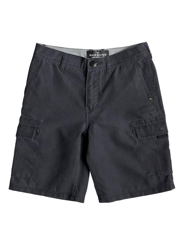 "0 Boy's 8-16 Rogue Surfwash 18"" Amphibian Boardshorts Black EQBWS03284 Quiksilver"