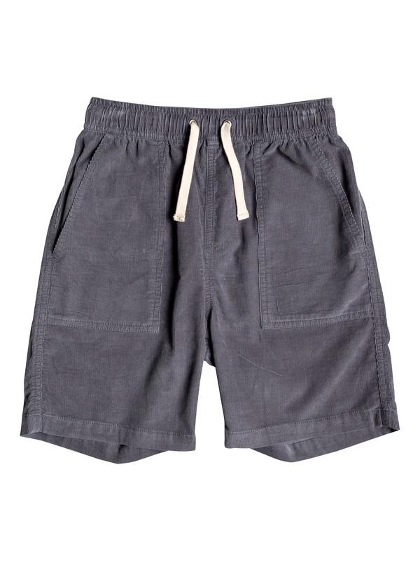 "0 Boy's 8-16 Sand Bowl 16"" Corduroy Shorts Black EQBWS03286 Quiksilver"