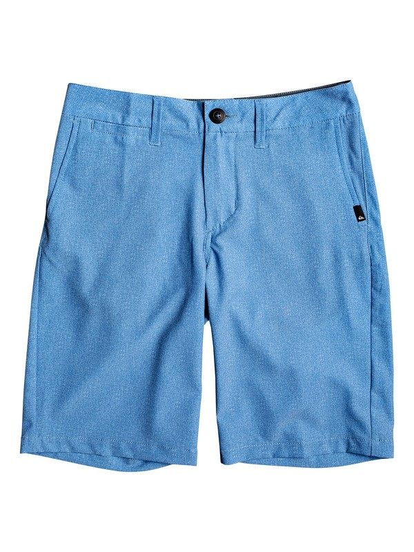 "0 Boy's 8-16 Union Heather 19"" Amphibian Boardshorts Blue EQBWS03287 Quiksilver"