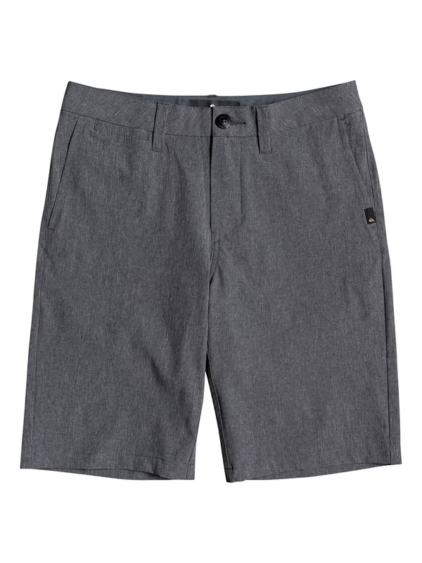 "0 Union Heather 19"" - Amphibian Board Shorts for Boys 8-16 Negro EQBWS03287 Quiksilver"