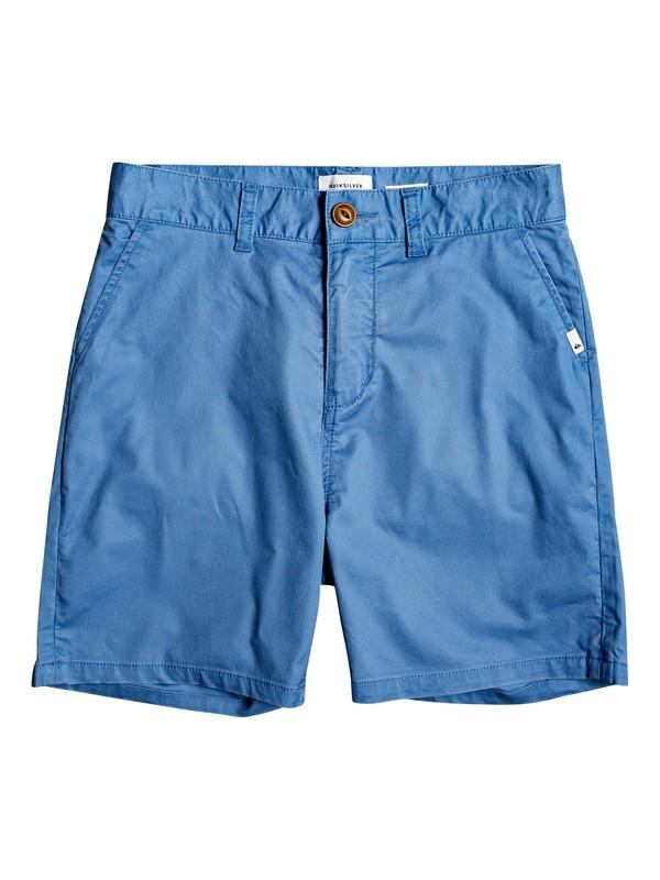 "0 Boy's 8-16 Gooba Moola 16"" Chino Shorts Blue EQBWS03288 Quiksilver"