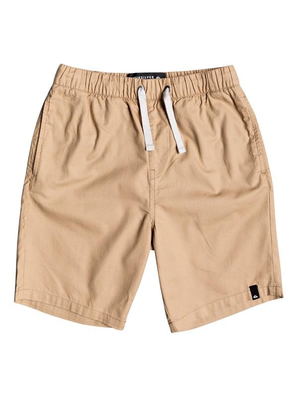 "0 Boy's 8-16 Seaside Roads 16"" Elasticated Shorts Brown EQBWS03297 Quiksilver"