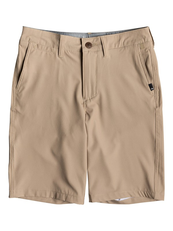 "0 Boy's 8-16 Union 19"" Amphibian Boardshorts Brown EQBWS03298 Quiksilver"