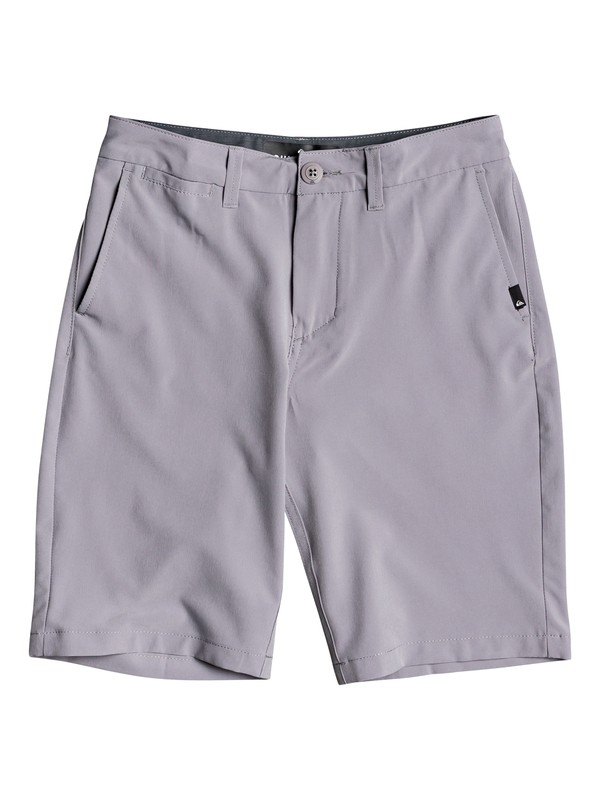 "0 Union 19"" - Amphibian Board Shorts for Boys 8-16 Gris EQBWS03298 Quiksilver"