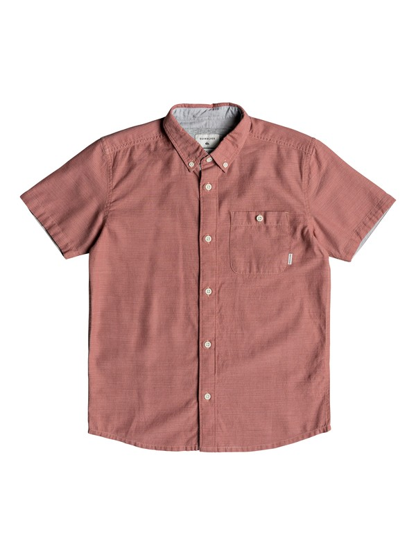 0 Boy's 8-16 Waterfalls Short Sleeve Shirt Pink EQBWT03201 Quiksilver
