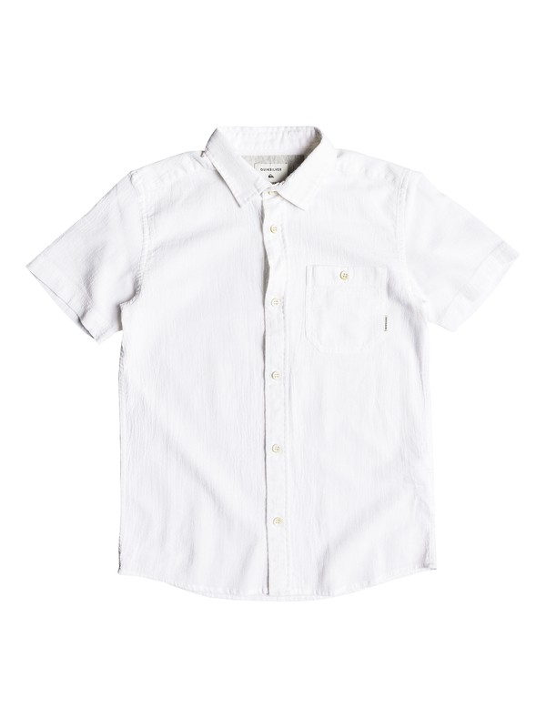 0 New Time Box - Short Sleeve Shirt for Boys 8-16 White EQBWT03212 Quiksilver