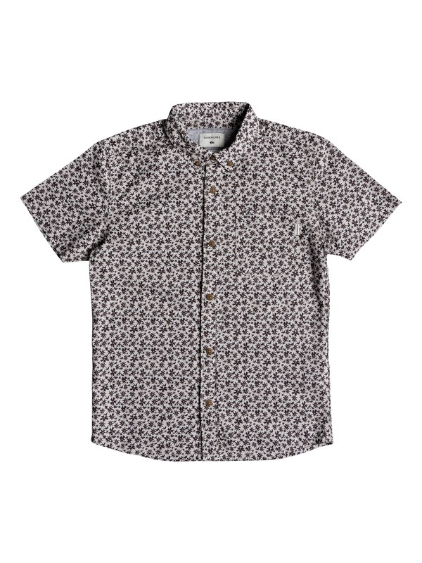 0 Boy's 8-16 Minikani Short Sleeve Shirt Grey EQBWT03213 Quiksilver