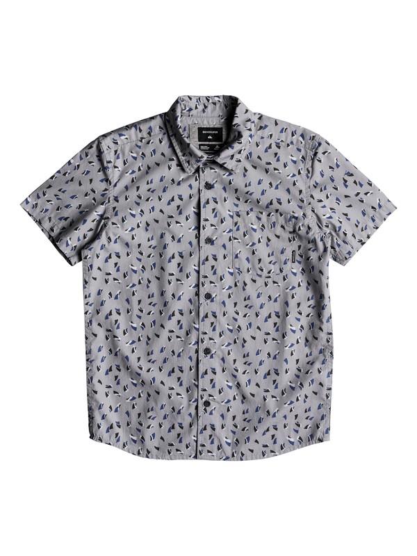 0 Boy's 8-16 Akan Waters Short Sleeve Shirt Grey EQBWT03216 Quiksilver