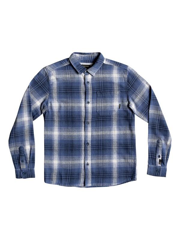 0 Boy's 8-16 Fatherfly Long Sleeve Shirt Blue EQBWT03225 Quiksilver
