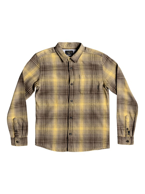 0 Boy's 8-16 Fatherfly Long Sleeve Shirt Brown EQBWT03225 Quiksilver