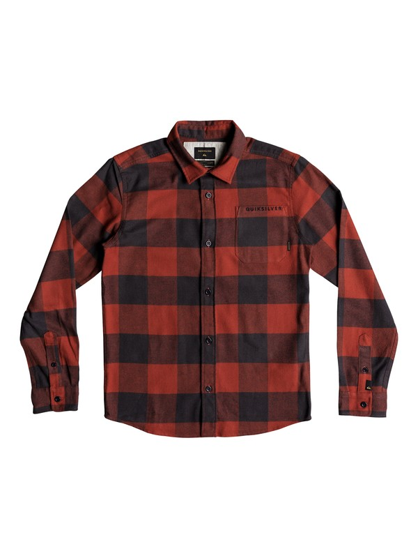0 Motherfly Flannel - Long Sleeve Shirt Red EQBWT03227 Quiksilver
