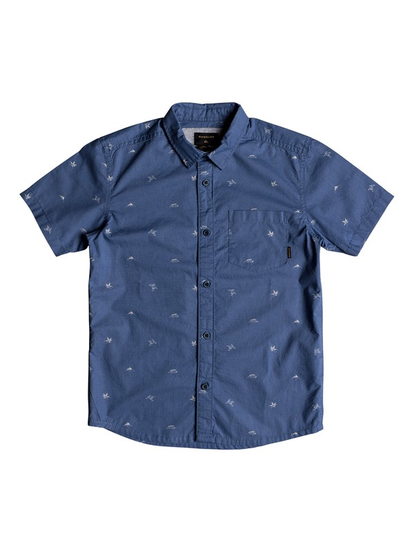 0 Boy's 8-16 Fuji Short Sleeve Shirt  EQBWT03228 Quiksilver