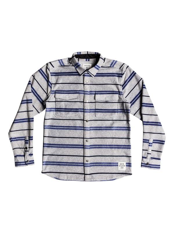 0 Boy's 8-16 Surf Days Long Sleeve Shirt Grey EQBWT03229 Quiksilver