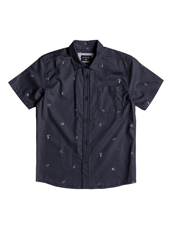 0 Boy's 8-16 Mini Kamakura Short Sleeve Shirt Blue EQBWT03231 Quiksilver