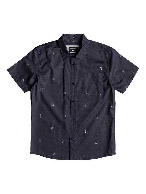 0 Boy's 8-16 Mini Kamakura Short Sleeve Shirt  EQBWT03231 Quiksilver