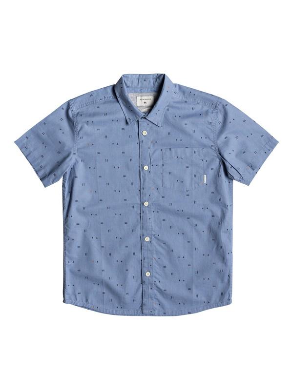 0 Boy's 8-16 Rock The Road Short Sleeve Shirt Blue EQBWT03241 Quiksilver