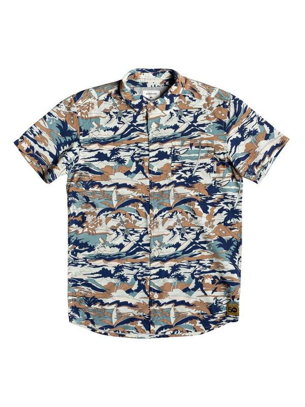 0 Boy's 8-16 Mercury Cafe Short Sleeve Shirt Blue EQBWT03245 Quiksilver