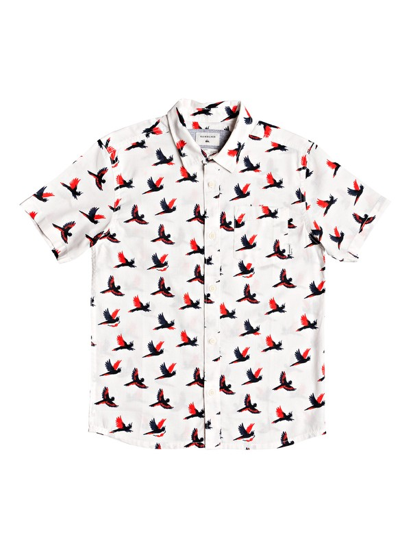 0 Boy's 8-16 Cockatoo Short Sleeve Shirt White EQBWT03249 Quiksilver