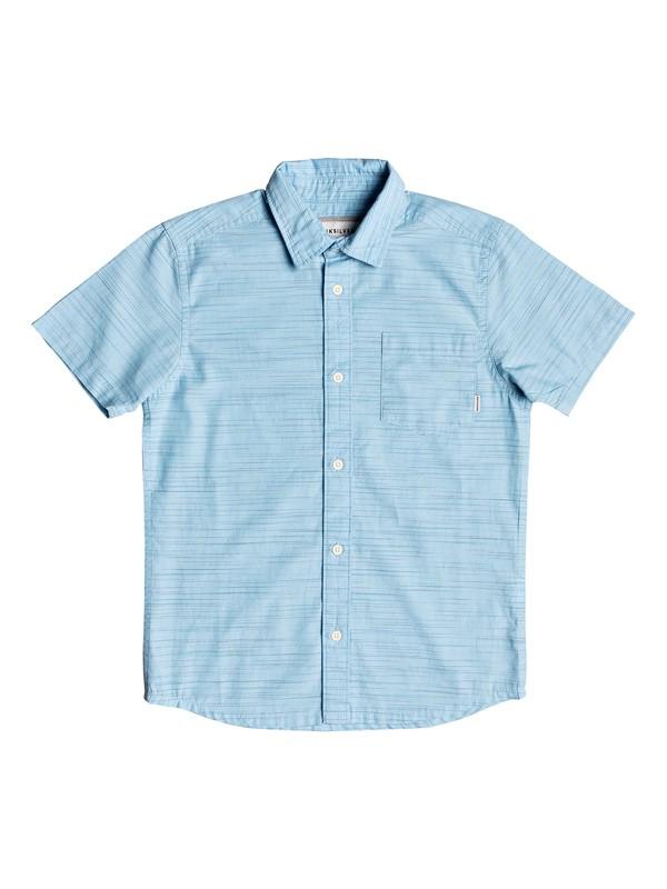 0 Boy's 8-16 Coober Croc Short Sleeve Shirt Blue EQBWT03250 Quiksilver