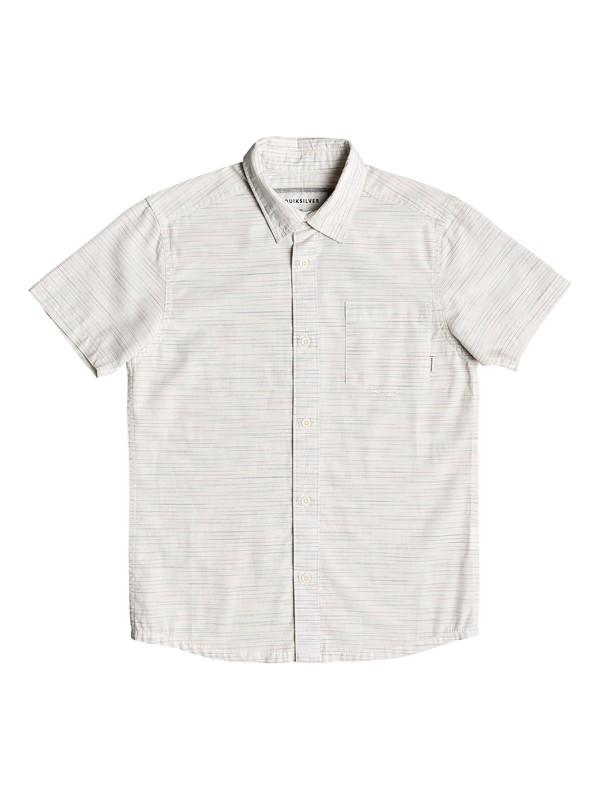 0 Boy's 8-16 Coober Croc Short Sleeve Shirt White EQBWT03250 Quiksilver