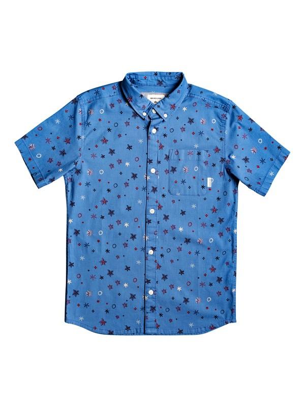 0 Ditsy Short Sleeve Shirt Blue EQBWT03261 Quiksilver