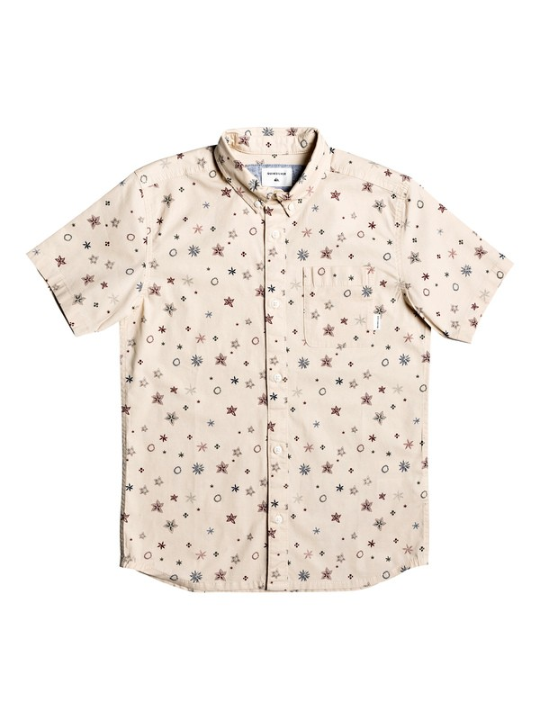 0 Ditsy Short Sleeve Shirt Beige EQBWT03261 Quiksilver