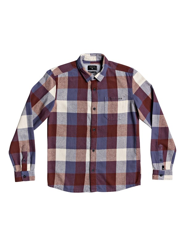 0 Boys 8-16 Motherfly Flannel Long Sleeve Flannel Shirt Blue EQBWT03268 Quiksilver