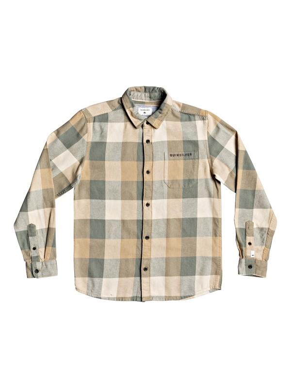 0 Boys 8-16 Motherfly Flannel Long Sleeve Flannel Shirt Green EQBWT03268 Quiksilver