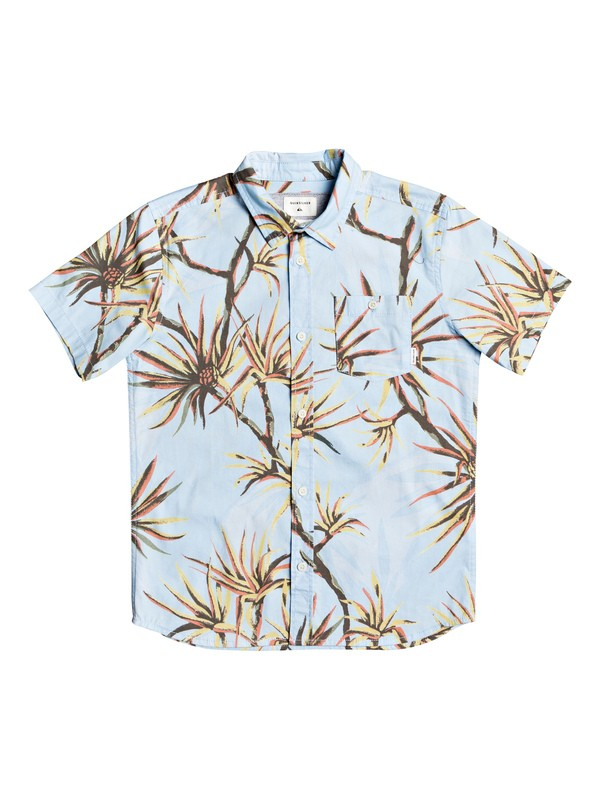 0 Boy's 8-16 Salty Palms Short Sleeve Shirt Blue EQBWT03271 Quiksilver