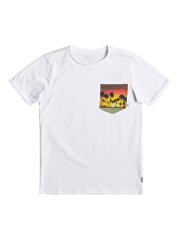0 Classic Quadro Glide - T-Shirt for Boys 8-16 White EQBZT03667 Quiksilver