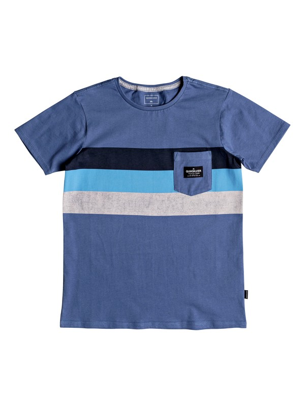 0 Peaceful Progression - Pocket T-Shirt for Boys 8-16 Blue EQBZT03783 Quiksilver