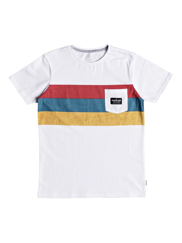 0 Peaceful Progression - Pocket T-Shirt for Boys 8-16 White EQBZT03783 Quiksilver